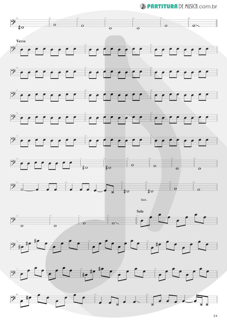 Partitura de musica de Baixo Elétrico - Sampa No Walkman | Engenheiros do Hawaii | Várias Variáveis 1991 - pag 2