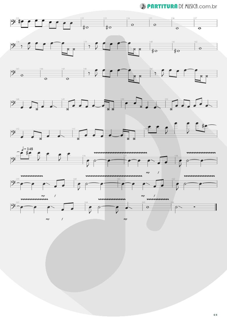 Partitura de musica de Baixo Elétrico - Sampa No Walkman | Engenheiros do Hawaii | Várias Variáveis 1991 - pag 4