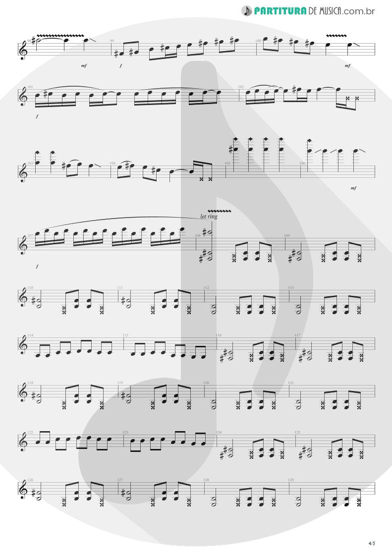 Partitura de musica de Guitarra Elétrica - Sampa No Walkman | Engenheiros do Hawaii | Várias Variáveis 1991 - pag 4
