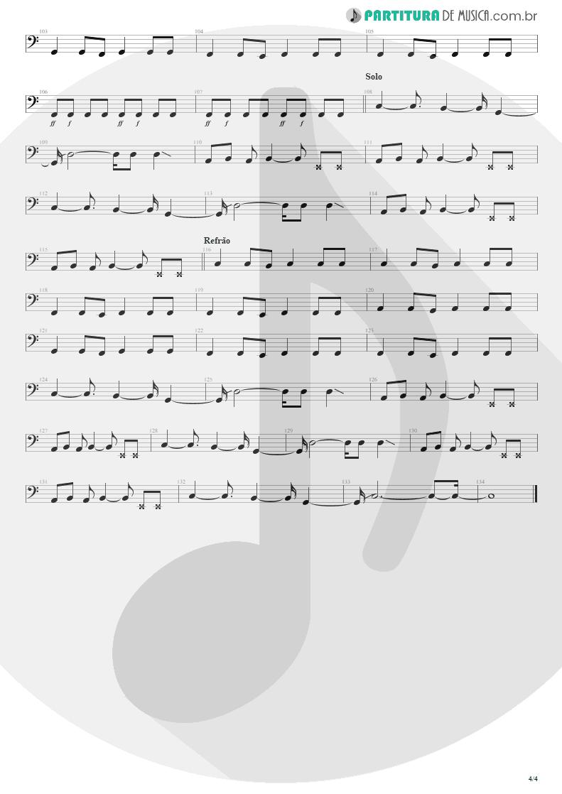Partitura de musica de Baixo Elétrico - Pra Ficar Legal | Engenheiros do Hawaii | Surfando Karmas & DNA 2002 - pag 4