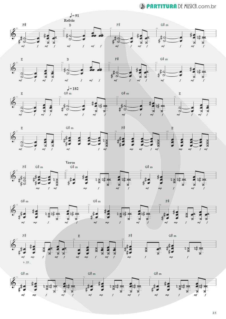 Partitura de musica de Guitarra Elétrica - Ritos De Passagem | Engenheiros do Hawaii | Surfando Karmas & DNA 2002 - pag 3
