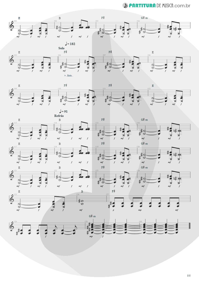 Partitura de musica de Guitarra Elétrica - Ritos De Passagem | Engenheiros do Hawaii | Surfando Karmas & DNA 2002 - pag 5