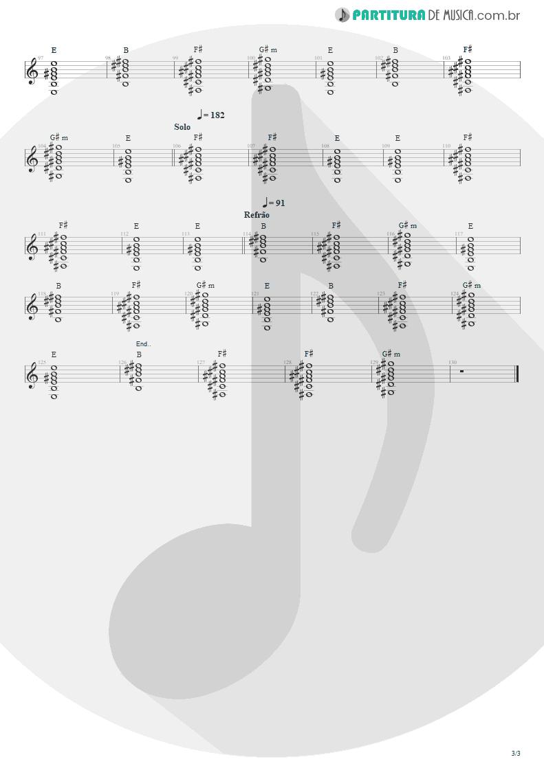 Partitura de musica de Violão - Ritos De Passagem | Engenheiros do Hawaii | Surfando Karmas & DNA 2002 - pag 3