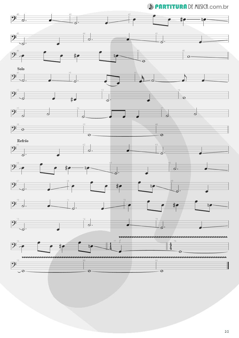 Partitura de musica de Baixo Elétrico - Eu Que Não Amo Você | Engenheiros do Hawaii | ¡Tchau Radar! 2002 - pag 2