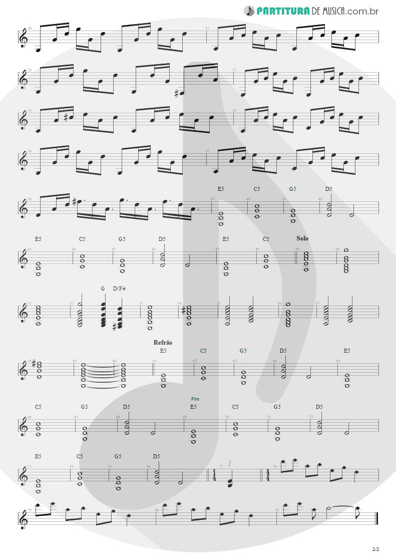 Partitura de musica de Guitarra Elétrica - Eu Que Não Amo Você | Engenheiros do Hawaii | ¡Tchau Radar! 2002 - pag 2