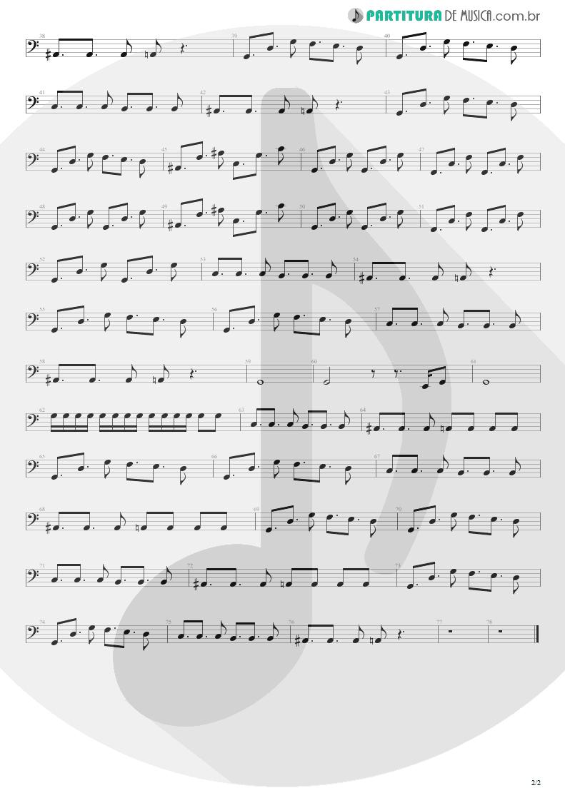 Partitura de musica de Baixo Elétrico - Na Real | Engenheiros do Hawaii | ¡Tchau Radar! 2002 - pag 2