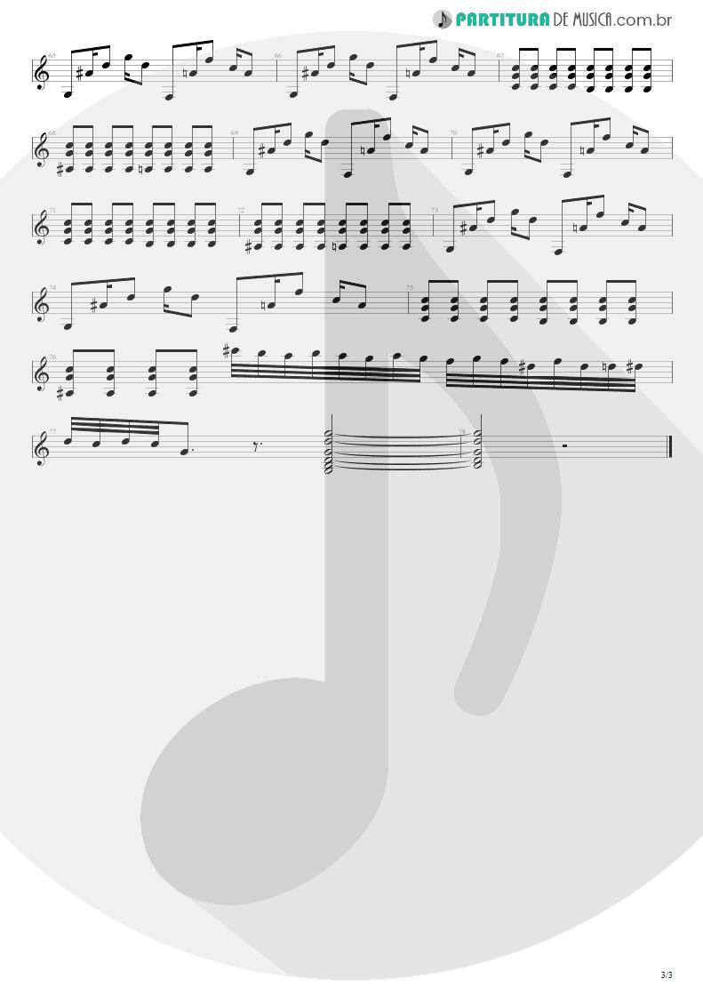 Partitura de musica de Guitarra Elétrica - Na Real | Engenheiros do Hawaii | ¡Tchau Radar! 2002 - pag 3
