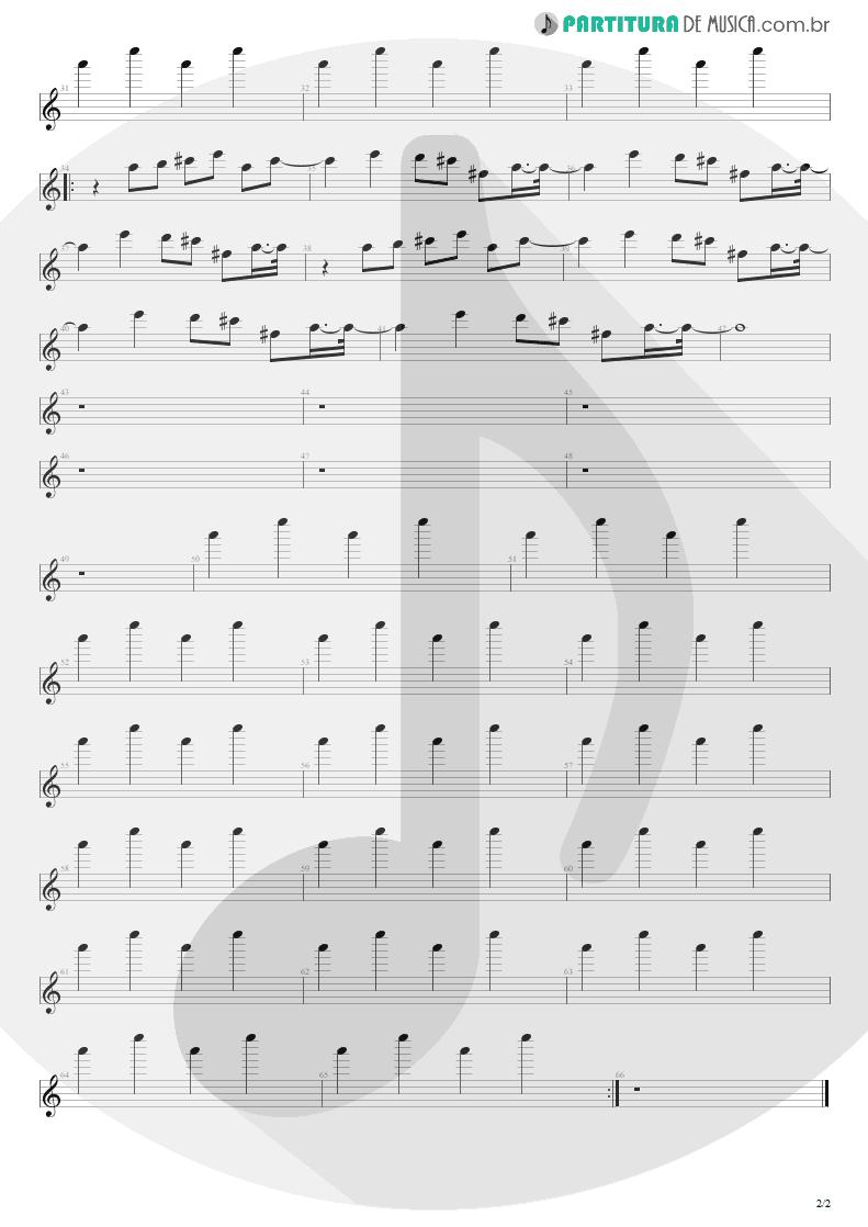 Partitura de musica de Guitarra Elétrica - Duas Noites No Deserto | Engenheiros do Hawaii | Dançando no Campo Minado 2003 - pag 2