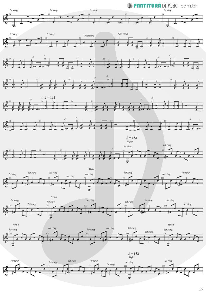 Partitura de musica de Guitarra Elétrica - So Close | Evanescence | Evanescence 1998 - pag 2