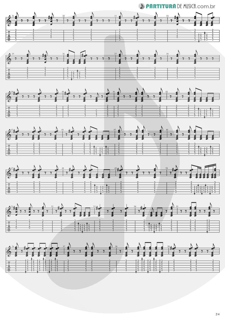 Tablatura + Partitura de musica de Violão - Understanding | Evanescence | Sound Asleep EP 1999 - pag 2