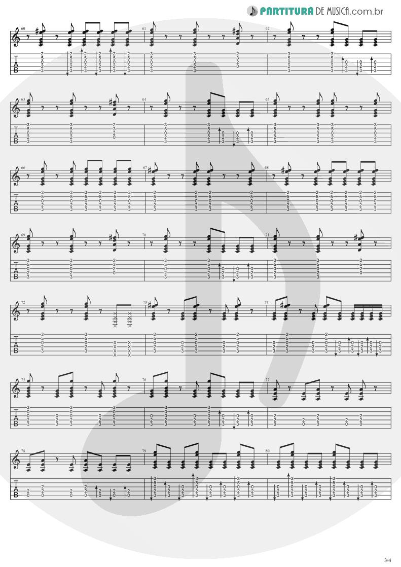 Tablatura + Partitura de musica de Violão - Understanding | Evanescence | Sound Asleep EP 1999 - pag 3