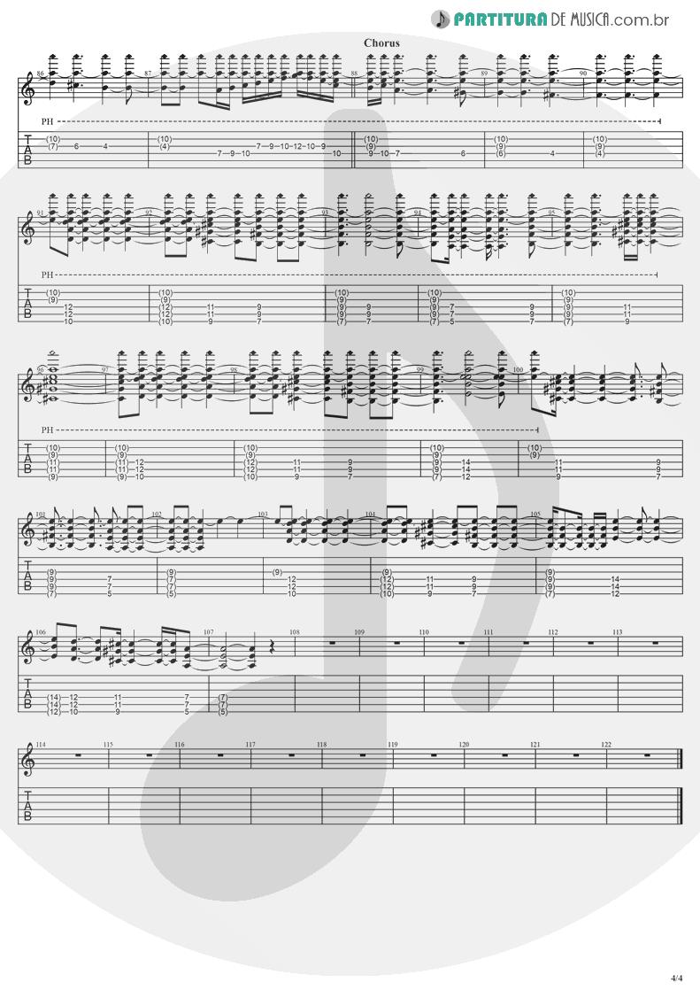 Tablatura + Partitura de musica de Violão - Anywhere   Evanescence   Origin 2000 - pag 4