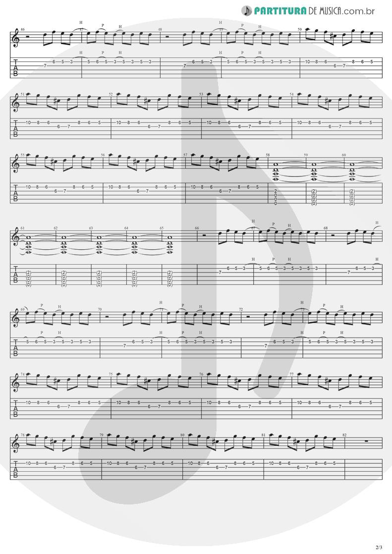 Tablatura + Partitura de musica de Guitarra Elétrica - Lies | Evanescence | Origin 2000 - pag 2
