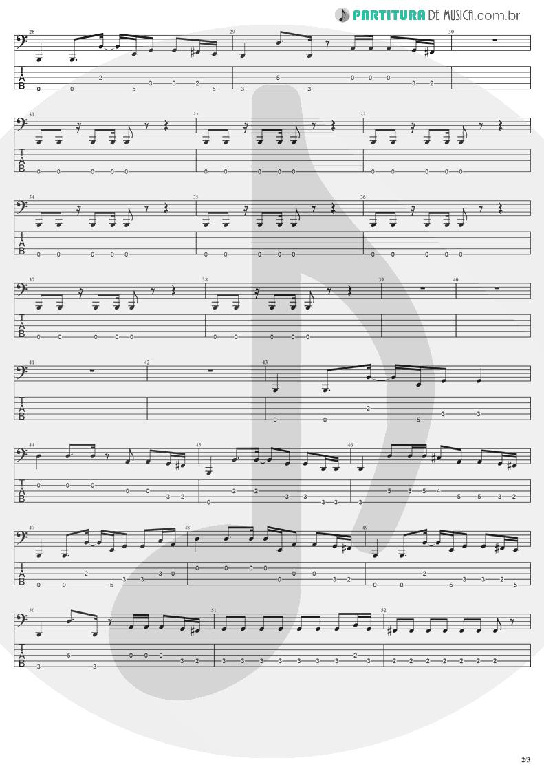 Tablatura + Partitura de musica de Baixo Elétrico - Going Under | Evanescence | Fallen 2003 - pag 2