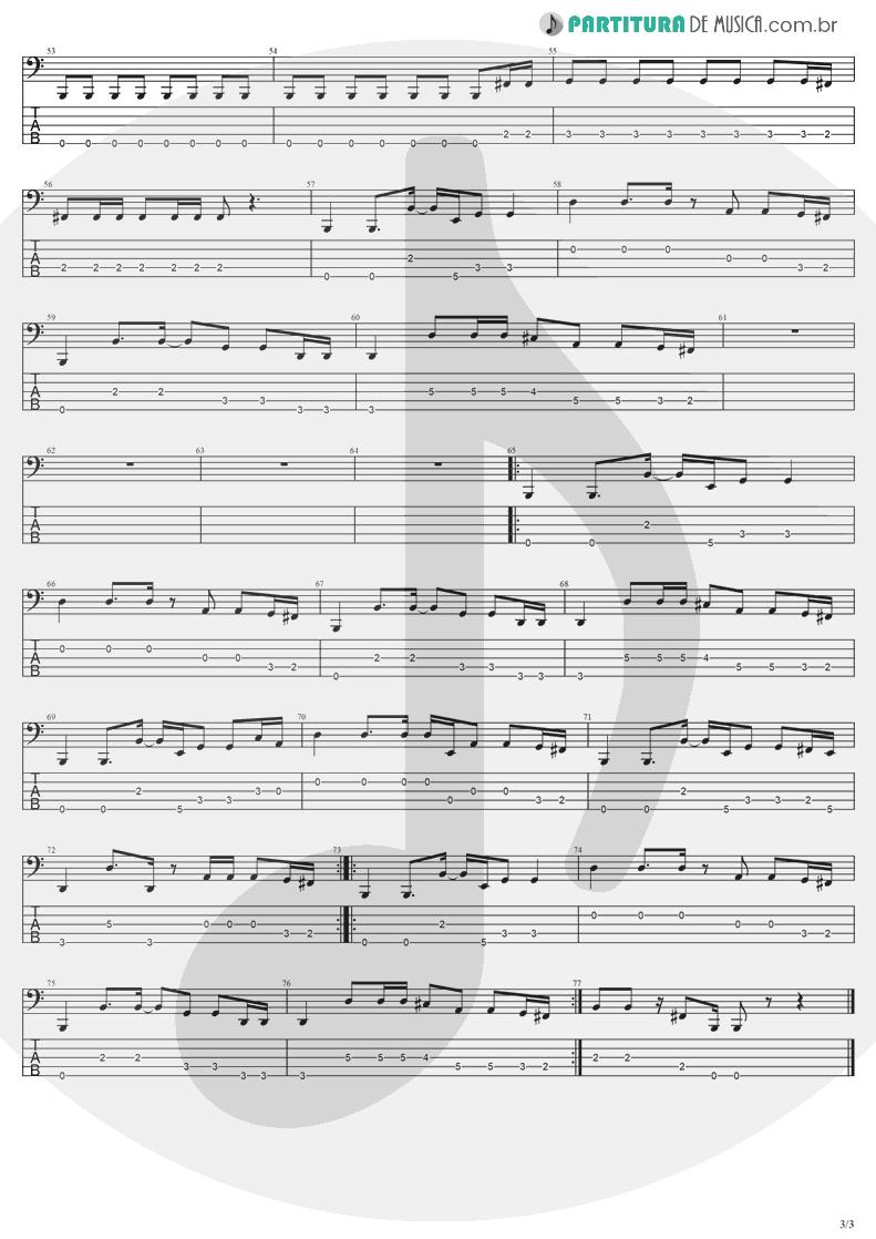 Tablatura + Partitura de musica de Baixo Elétrico - Going Under | Evanescence | Fallen 2003 - pag 3