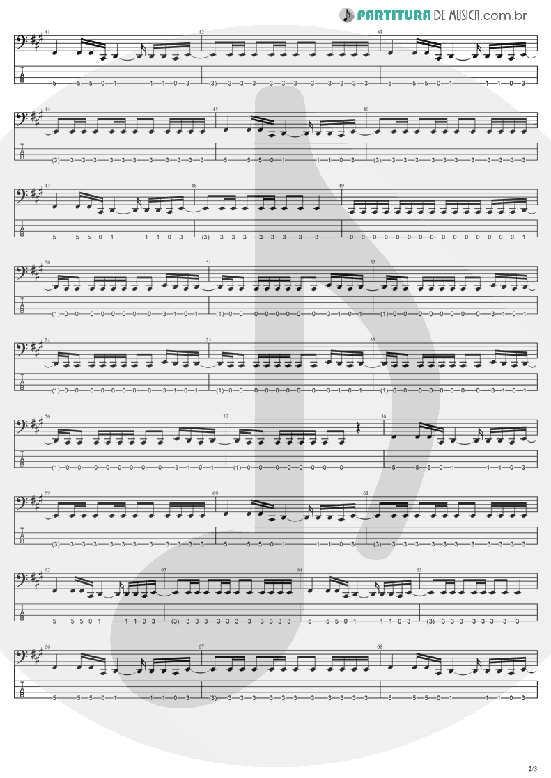 Tablatura + Partitura de musica de Baixo Elétrico - My Last Breath | Evanescence | Fallen 2003 - pag 2