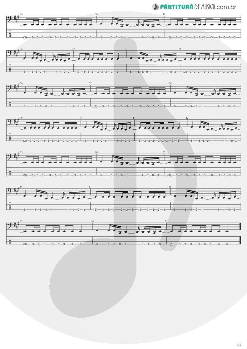 Tablatura + Partitura de musica de Baixo Elétrico - My Last Breath | Evanescence | Fallen 2003 - pag 3