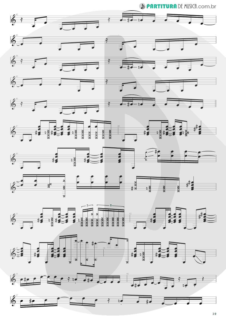 Partitura de musica de Guitarra Elétrica - Cupid's Dead | Extreme | III Sides to Every Story 1982 - pag 3