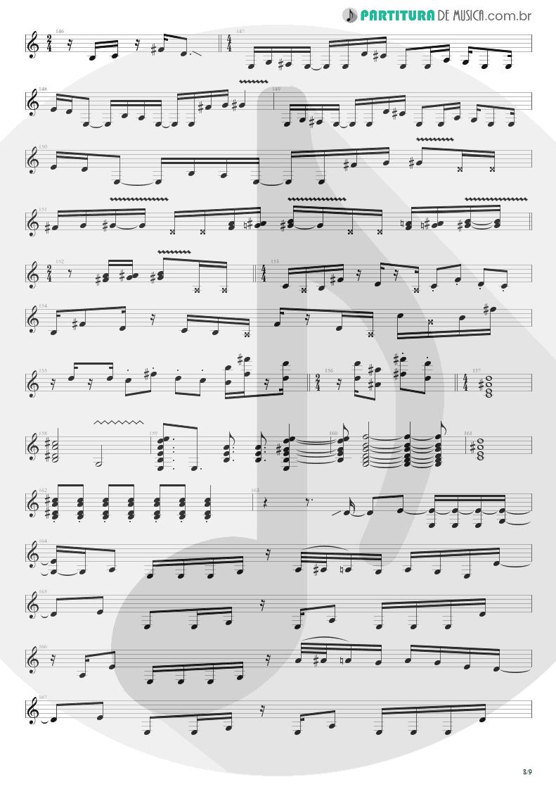 Partitura de musica de Guitarra Elétrica - Cupid's Dead | Extreme | III Sides to Every Story 1982 - pag 8