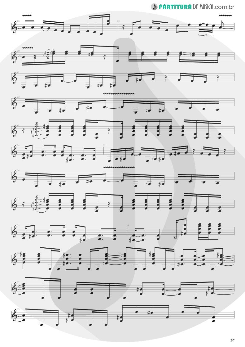 Partitura de musica de Guitarra Elétrica - Peacemaker Die | Extreme | III Sides to Every Story 1982 - pag 2