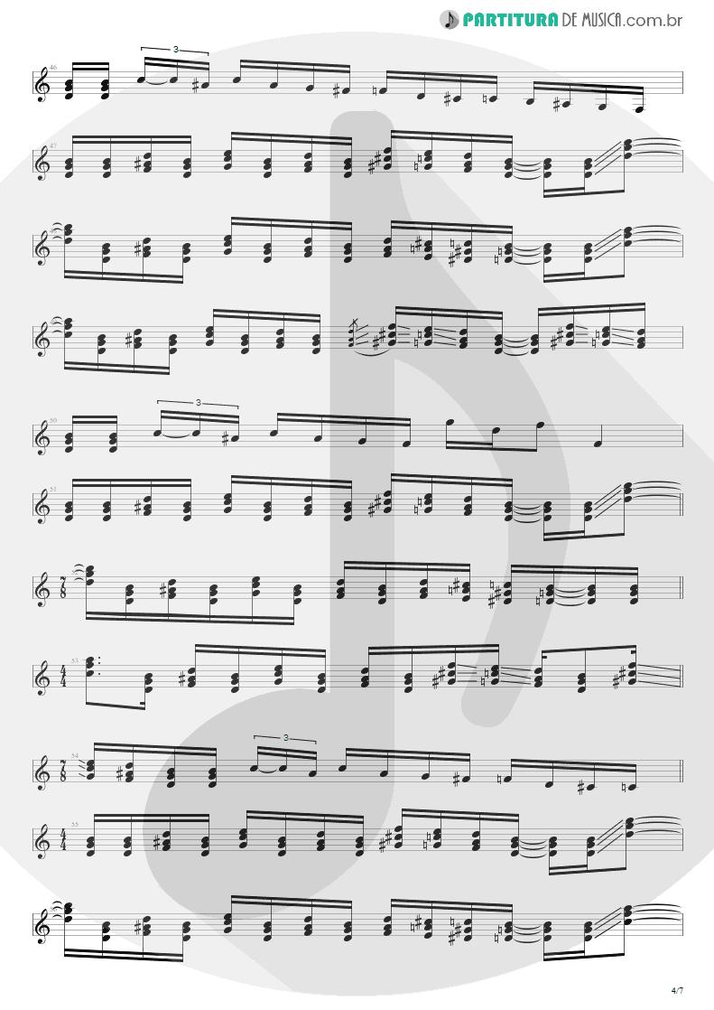 Partitura de musica de Guitarra Elétrica - Peacemaker Die | Extreme | III Sides to Every Story 1982 - pag 4