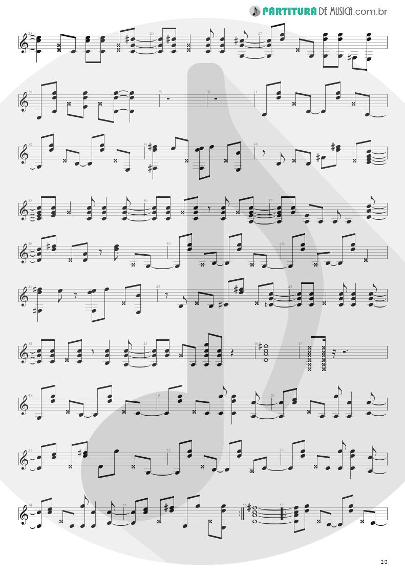 Partitura de musica de Violão - More Than Words | Extreme | Extreme II: Pornograffitti 1990 - pag 2