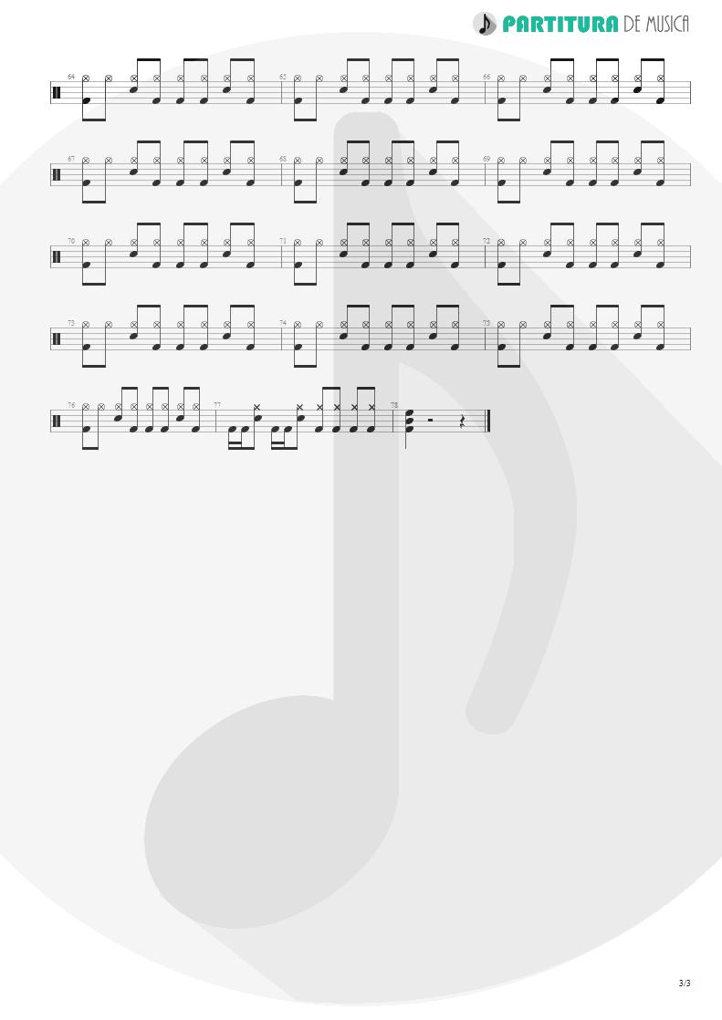 Partitura de musica de Bateria - We Care a Lot | Faith No More | We Care A Lot 1985 - pag 3