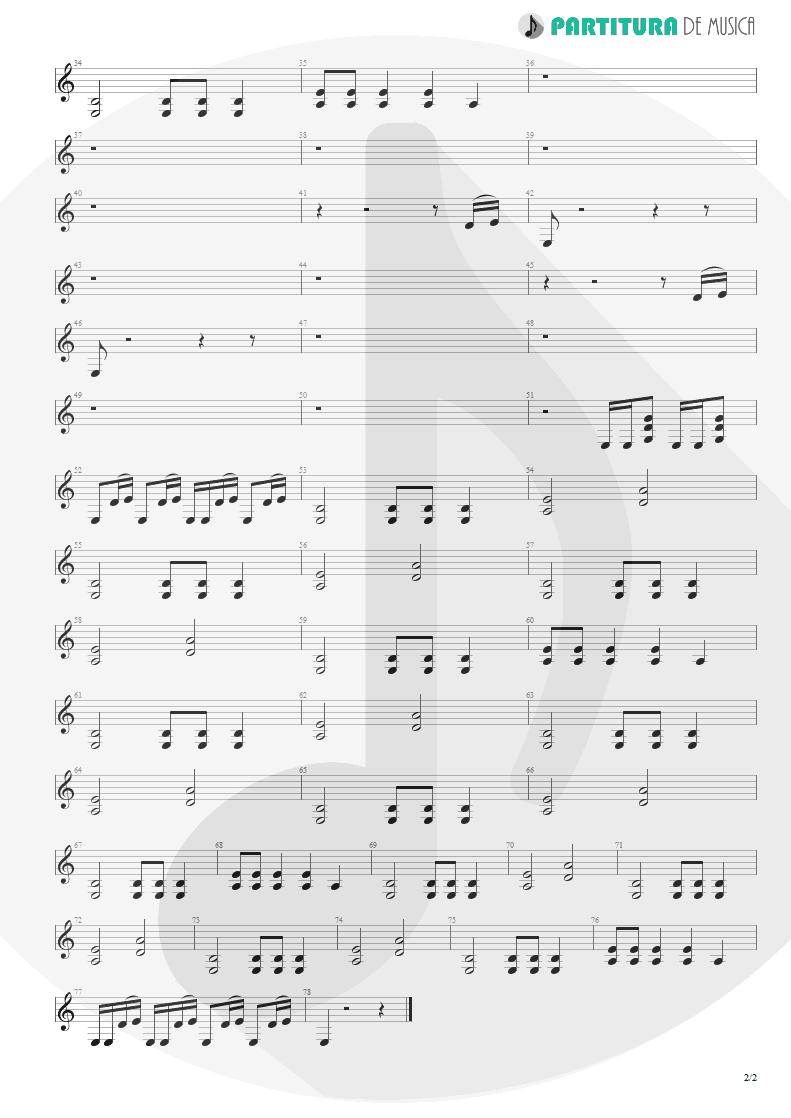 Partitura de musica de Guitarra Elétrica - We Care a Lot   Faith No More   We Care A Lot 1985 - pag 2