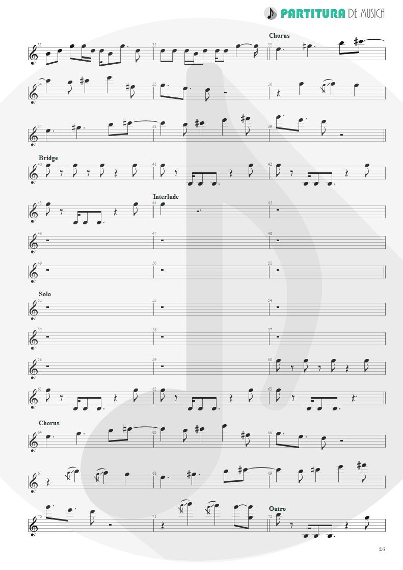 Partitura de musica de Canto - Epic | Faith No More | The Real Thing 1989 - pag 2