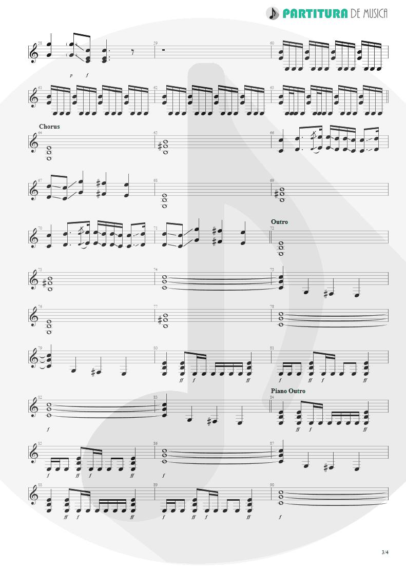 Partitura de musica de Guitarra Elétrica - Epic   Faith No More   The Real Thing 1989 - pag 3