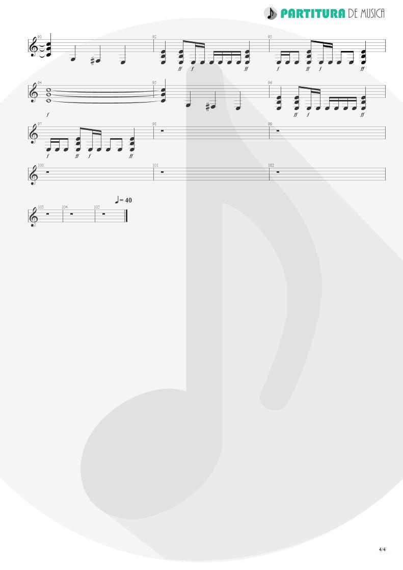 Partitura de musica de Guitarra Elétrica - Epic   Faith No More   The Real Thing 1989 - pag 4