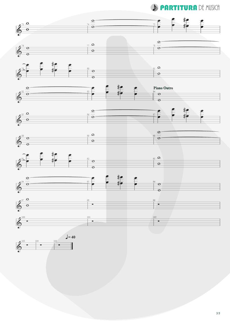 Partitura de musica de Guitarra Elétrica - Epic | Faith No More | The Real Thing 1989 - pag 3