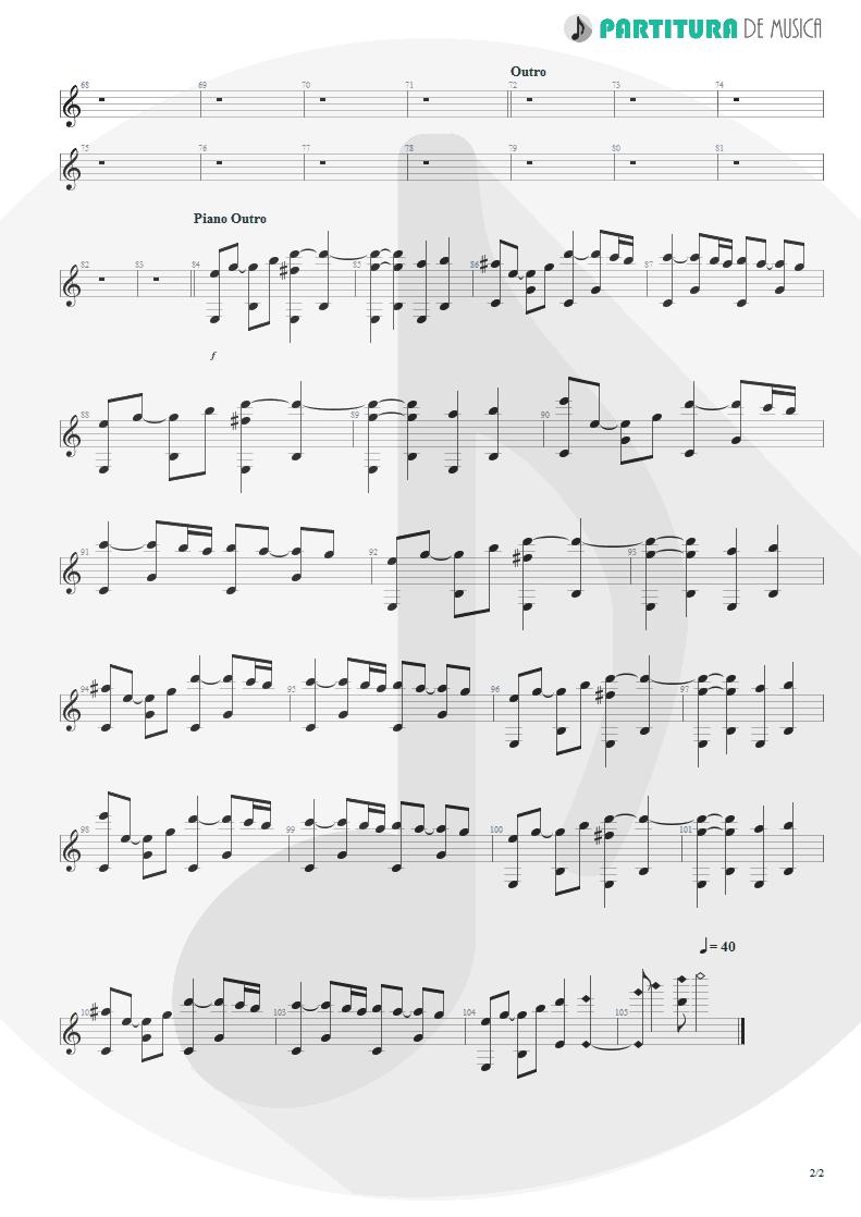 Partitura de musica de Piano - Epic | Faith No More | The Real Thing 1989 - pag 2