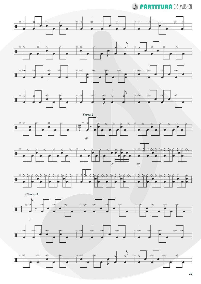 Partitura de musica de Canto - Surprise! Your Dead! | Faith No More | The Real Thing 1989 - pag 2