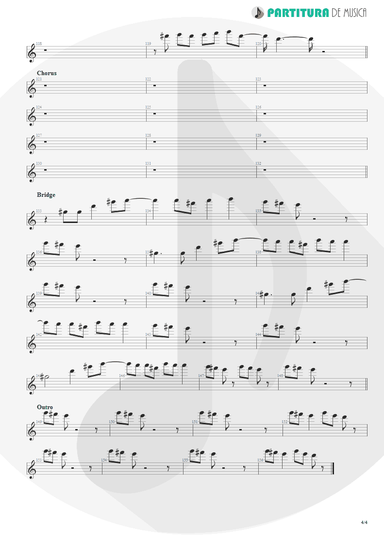 Partitura de musica de Canto - The Real Thing | Faith No More | The Real Thing 1989 - pag 4