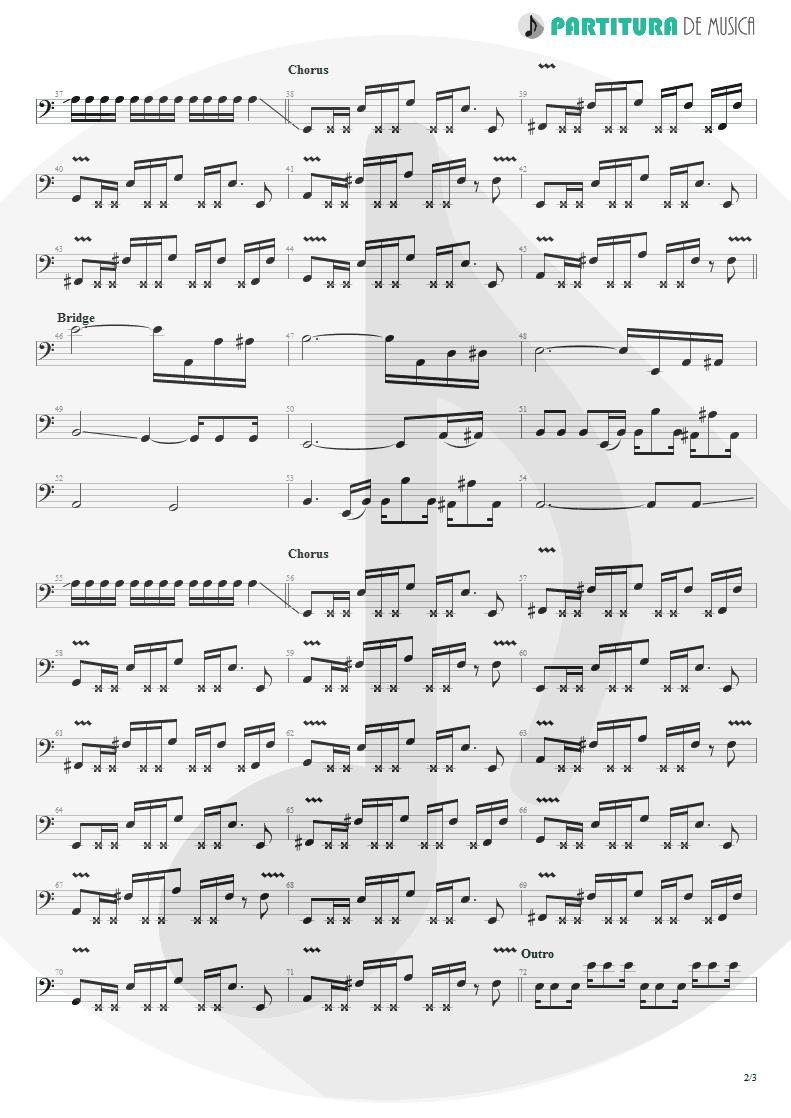 Partitura de musica de Baixo Elétrico - Underwater Love | Faith No More | The Real Thing 1989 - pag 2
