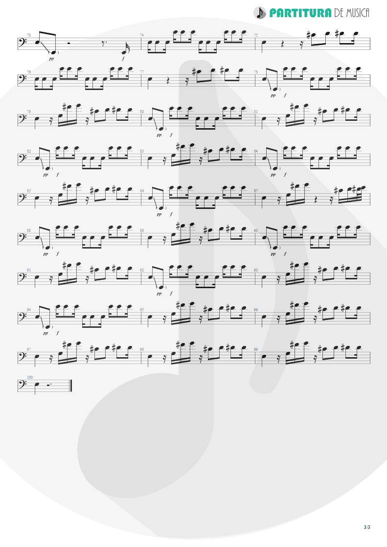 Partitura de musica de Baixo Elétrico - Underwater Love | Faith No More | The Real Thing 1989 - pag 3