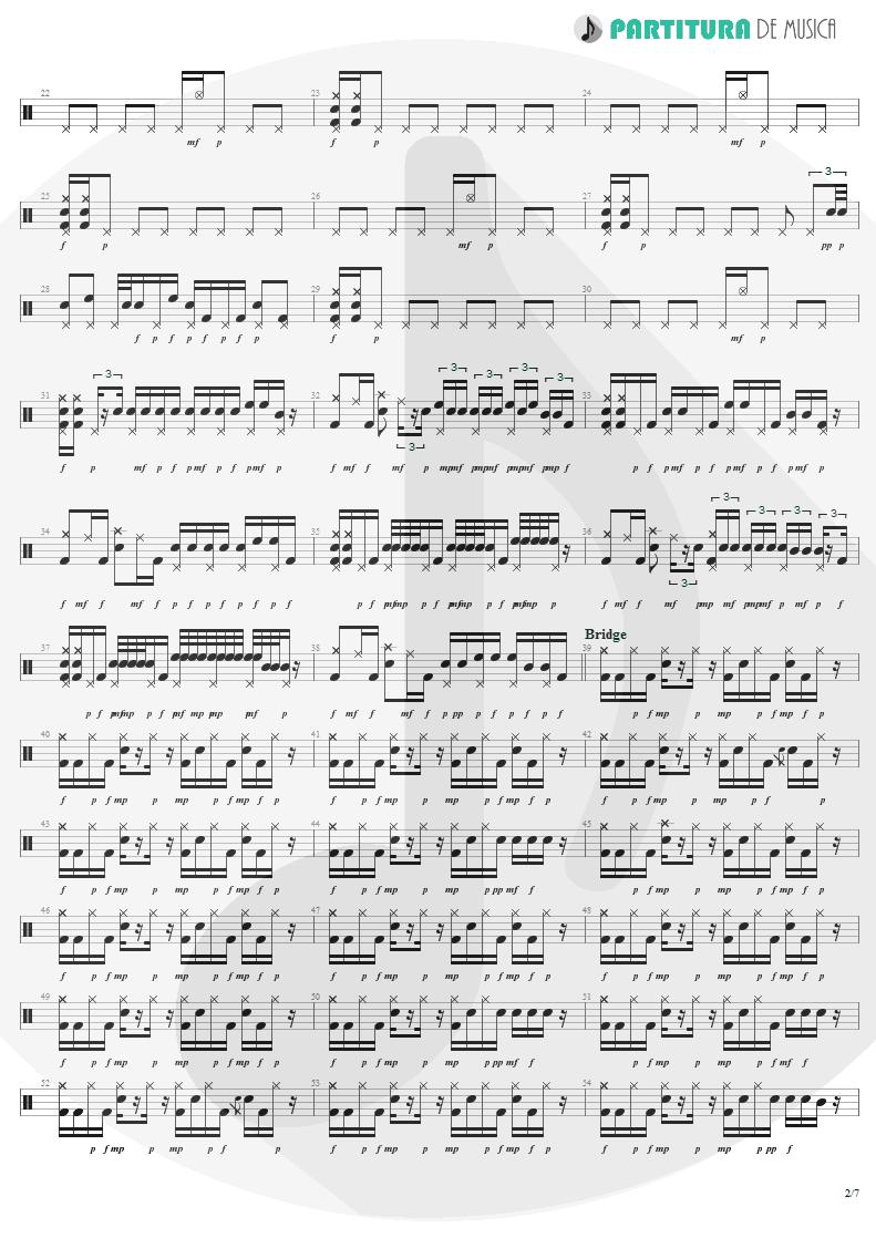 Partitura de musica de Bateria - War Pigs | Faith No More | The Real Thing 1989 - pag 2
