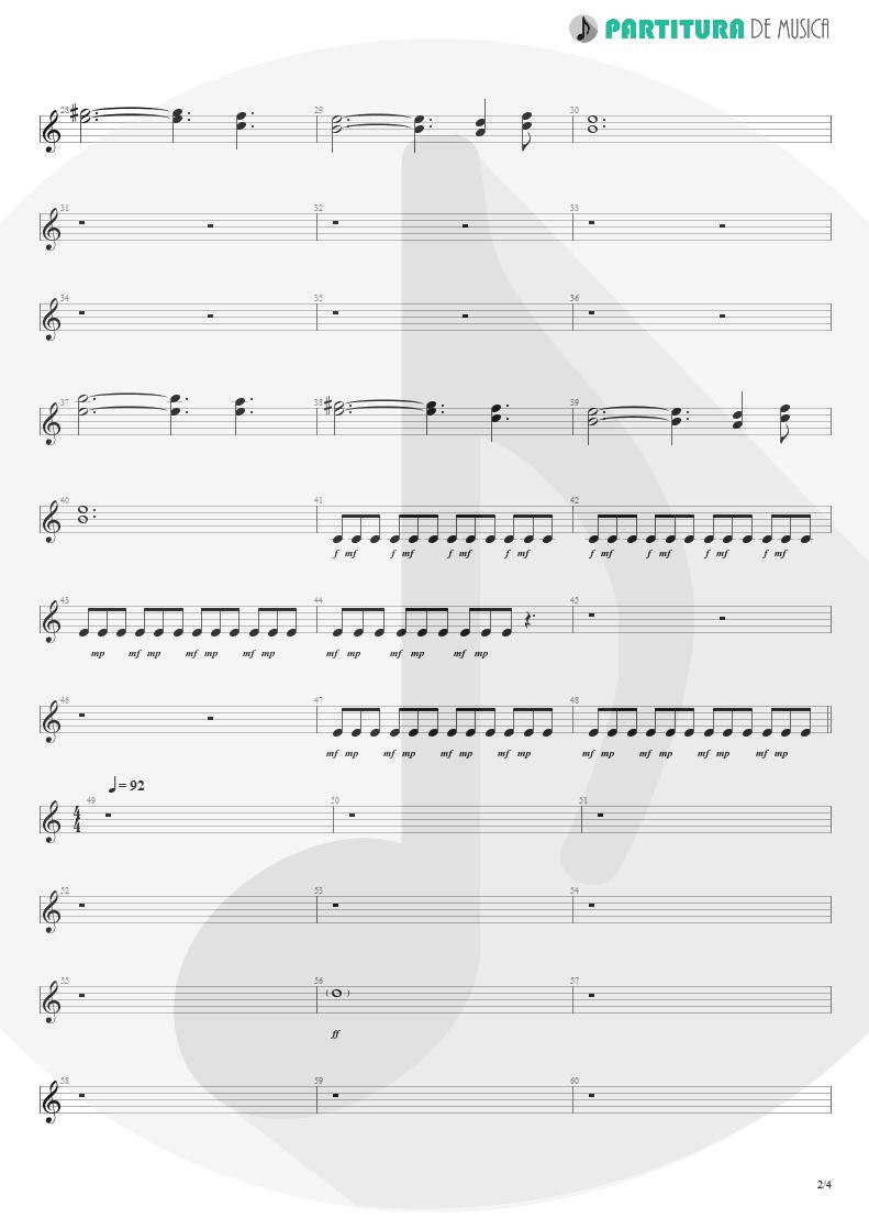 Partitura de musica de Guitarra Elétrica - Woodpecker From Mars | Faith No More | The Real Thing 1989 - pag 2