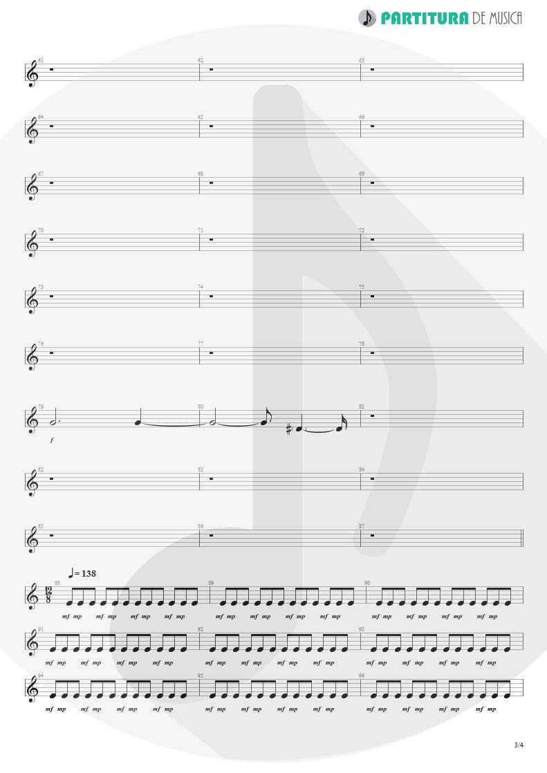 Partitura de musica de Guitarra Elétrica - Woodpecker From Mars | Faith No More | The Real Thing 1989 - pag 3