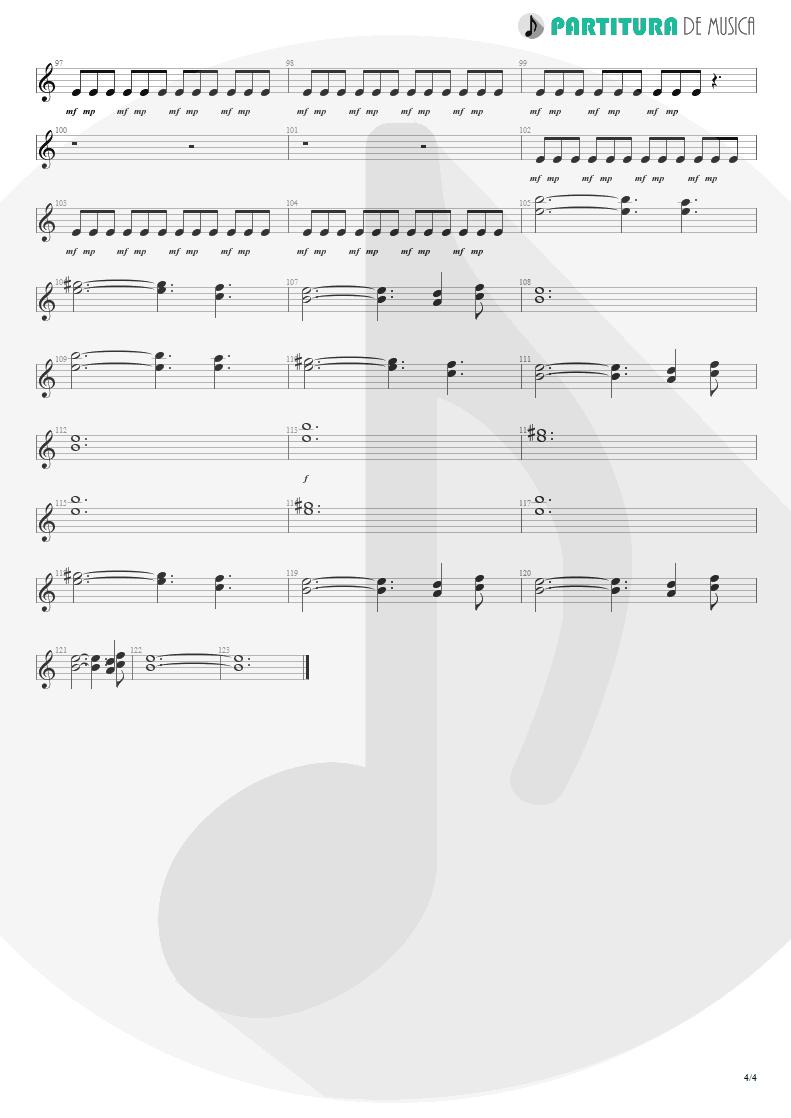 Partitura de musica de Guitarra Elétrica - Woodpecker From Mars | Faith No More | The Real Thing 1989 - pag 4