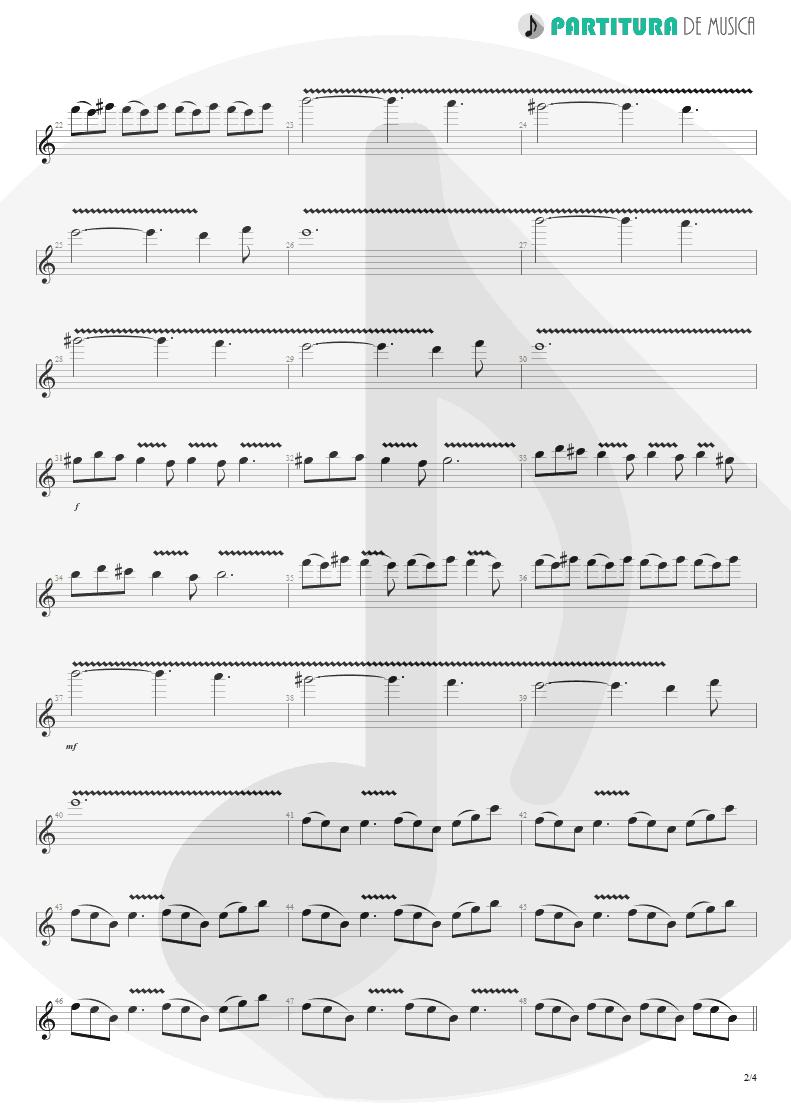 Partitura de musica de Guitarra Elétrica - Woodpecker From Mars   Faith No More   The Real Thing 1989 - pag 2