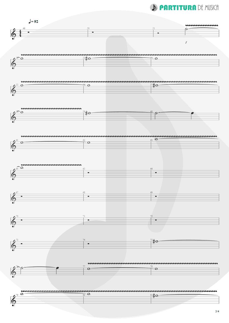 Partitura de musica de Guitarra Elétrica - Woodpecker From Mars   Faith No More   The Real Thing 1989 - pag 3