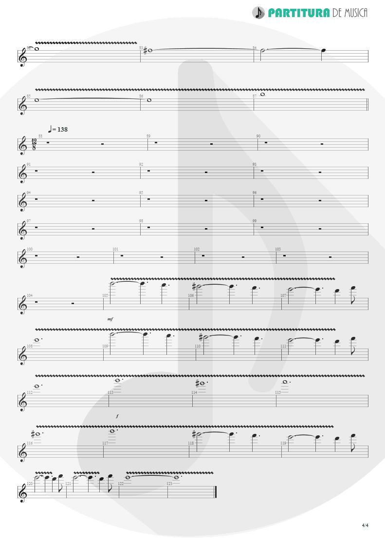 Partitura de musica de Guitarra Elétrica - Woodpecker From Mars   Faith No More   The Real Thing 1989 - pag 4