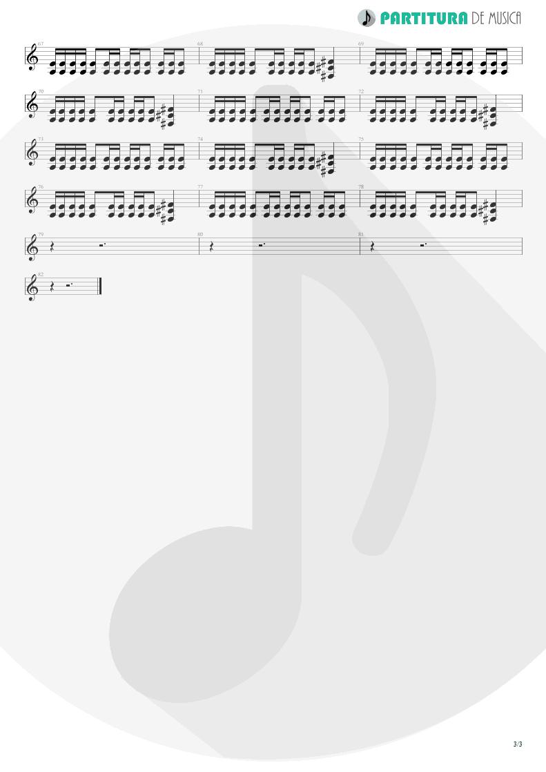 Partitura de musica de Guitarra Elétrica - A Small Victory | Faith No More | Angel Dust 1992 - pag 3