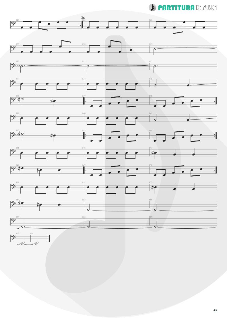 Partitura de musica de Baixo Elétrico - Caffeine | Faith No More | Angel Dust 1992 - pag 4