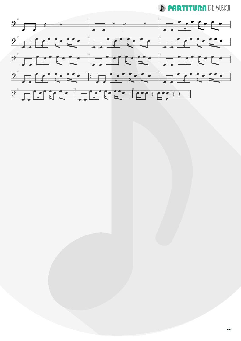 Partitura de musica de Baixo Elétrico - Crack Hitler | Faith No More | Angel Dust 1992 - pag 2