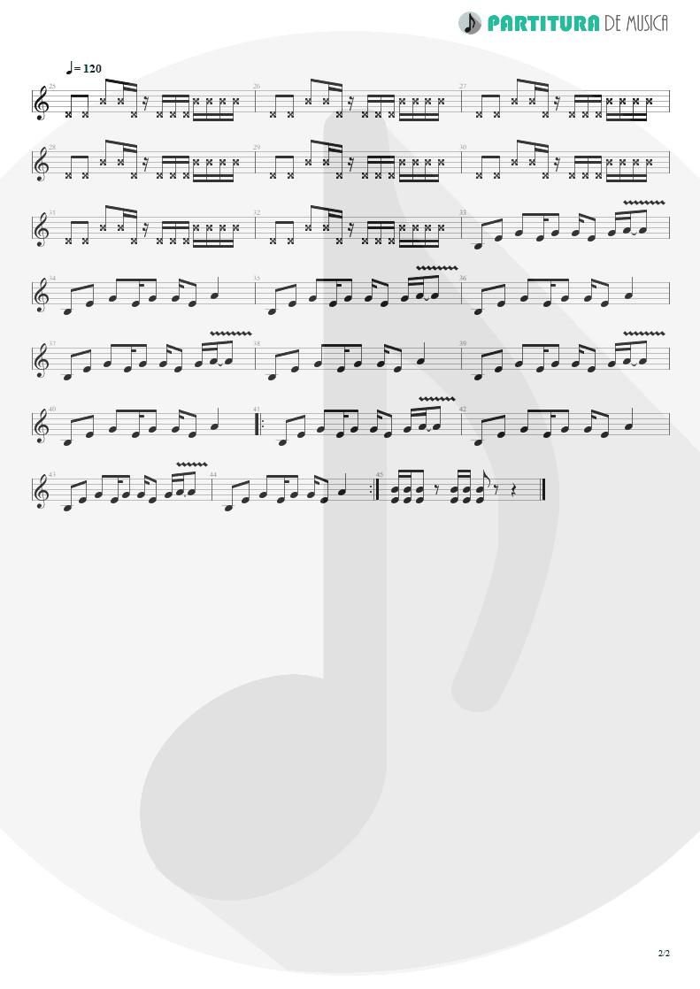 Partitura de musica de Guitarra Elétrica - Crack Hitler | Faith No More | Angel Dust 1992 - pag 2