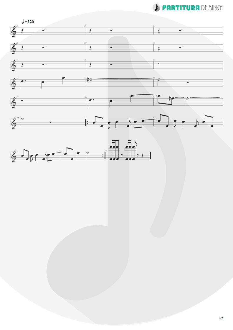 Partitura de musica de Piano - Crack Hitler | Faith No More | Angel Dust 1992 - pag 2