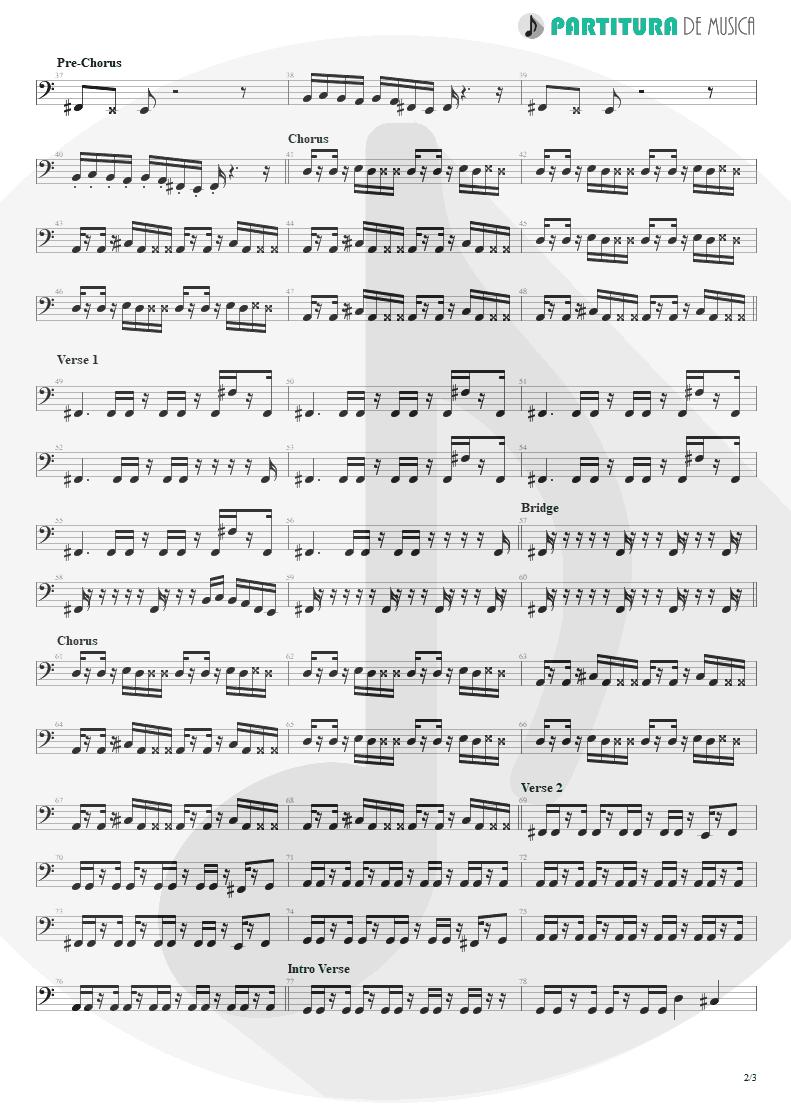 Partitura de musica de Baixo Elétrico - Everything's Ruined | Faith No More | Angel Dust 1992 - pag 2